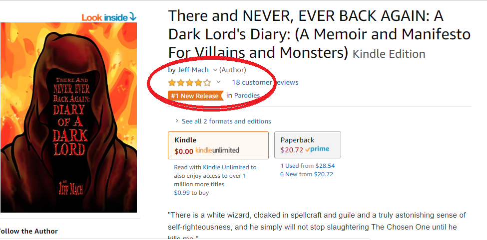 Number one in Parody New Releases!
