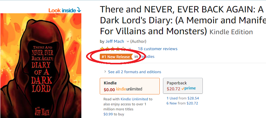 """There and Never, Ever Back Again"" - #1 New Release in Parodies"